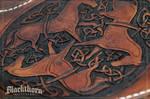 Celtic Horses Tooling Detail