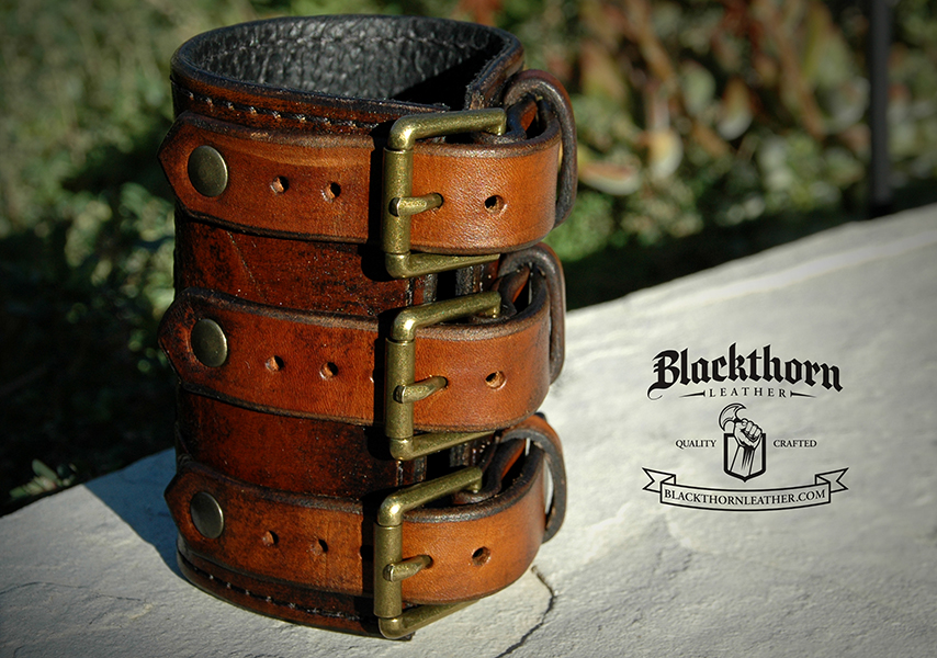 Mermaid Bracer Buckles by Blackthornleather