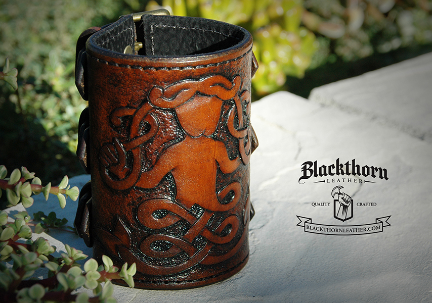 Mermaid Bracer by Blackthornleather