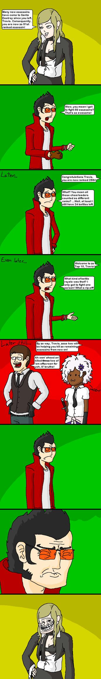 NMH2: Sylvia is a Troll by doodlegarmander