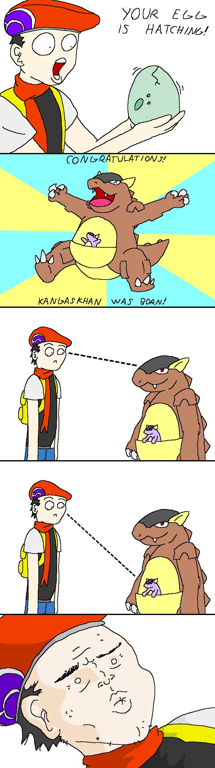 PKMN: Kangaskhan by doodlegarmander