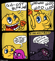 Pac Man and the Ghostly Blowjob by doodlegarmander