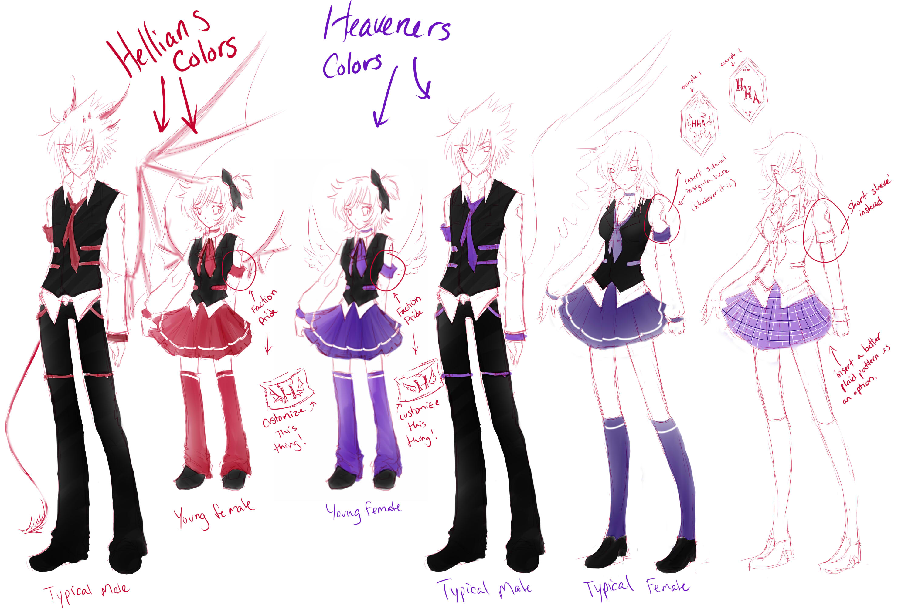 School uniform concepts by Donifer