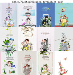 WANNA ONE PACK SHARE PSD [ FREE ] by SaphiaDesigner