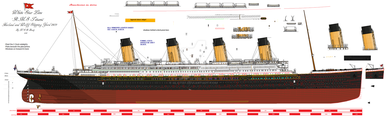 RMS Titanic Profile WIP By Alotef On DeviantArt