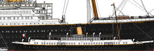RMS Titanic: Sizes compared.