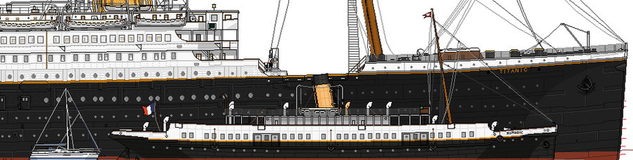 RMS Titanic: Sizes compared. by alotef on DeviantArt