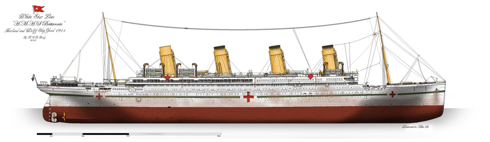 HMHS Britannic Profile 1915 By Alotef On DeviantArt