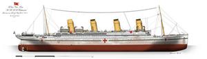 HMHS Britannic: Profile. (1915)