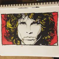 Jim Morrison Pop/Minimalist Portrait by jimidson