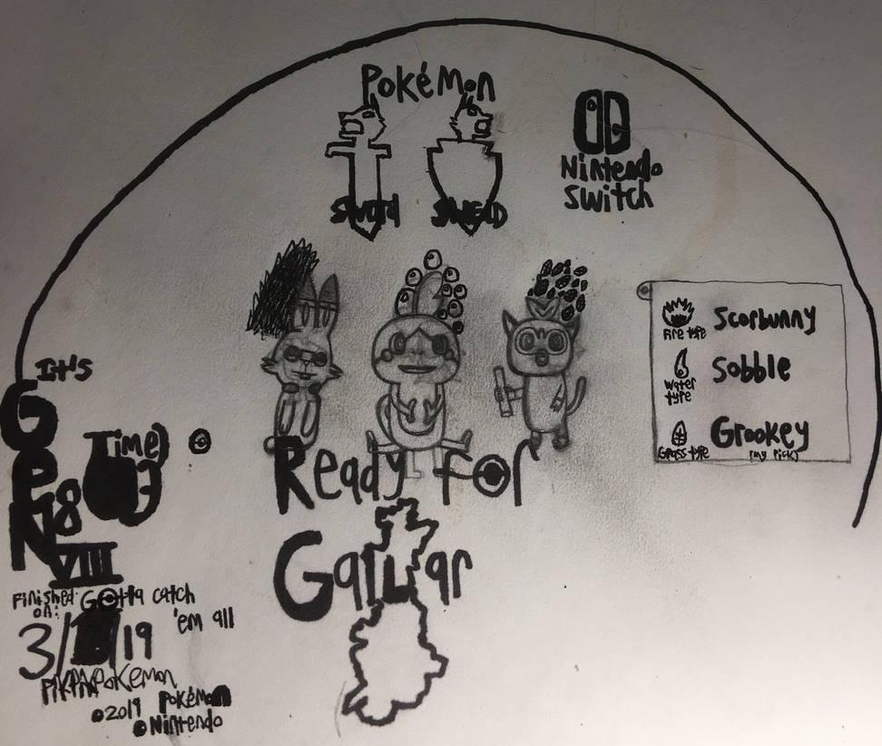 Pokemon Gen 8 Quick Sketch by PikPikPokemon