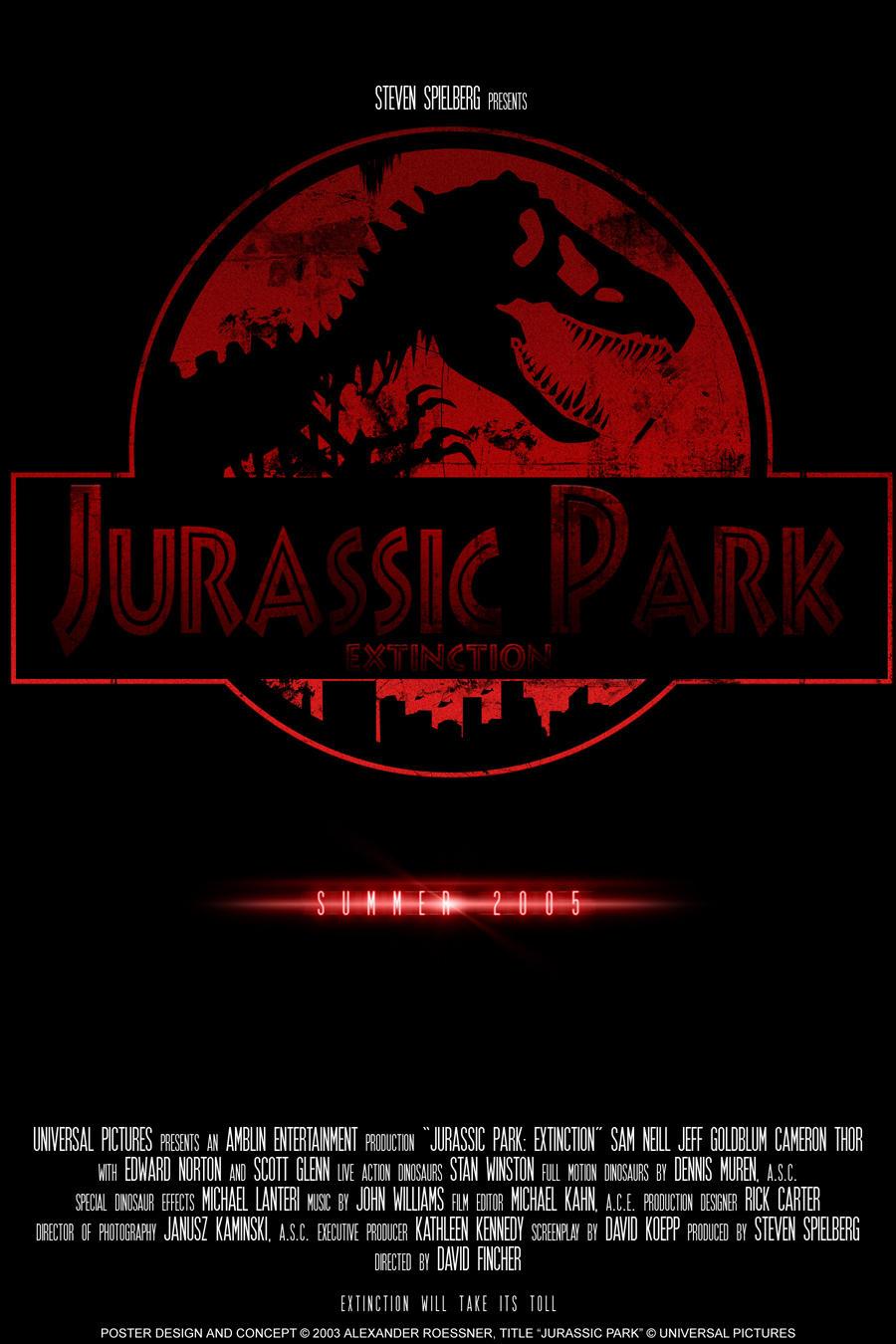 jurassic park 4 logo by rexbiteandspinopark
