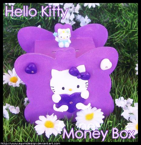 Hello Kitty MoneyBox - Purple by AyumiDesign
