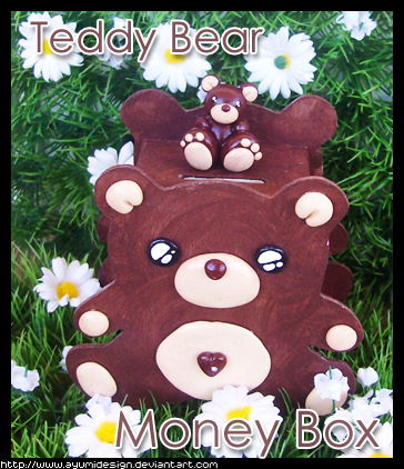 Teddy Bear Money box by AyumiDesign