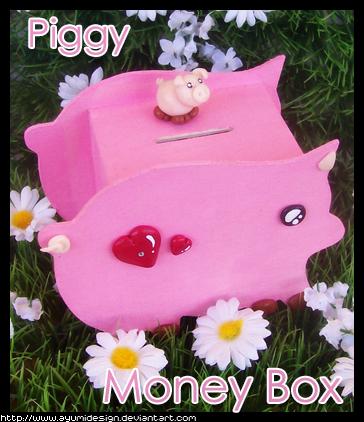 Piggy MoneyBox by AyumiDesign