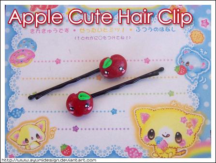 Apple Cute Hair Clip by AyumiDesign