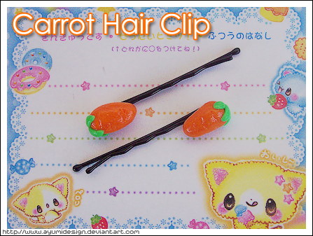 Carrot Hair Clip by AyumiDesign