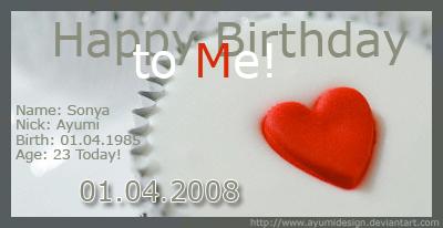 Happy Birthday to ME by AyumiDesign