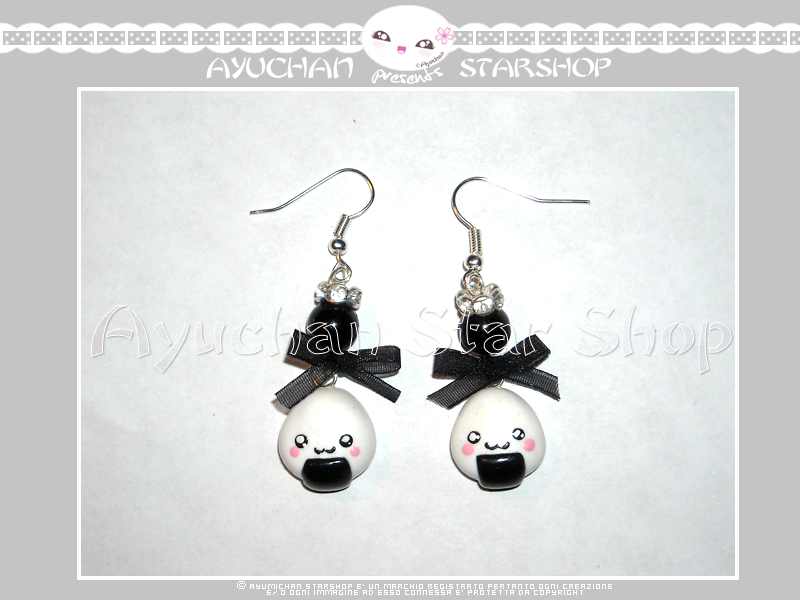 Japan Life - Earrings Onigiri by AyumiDesign