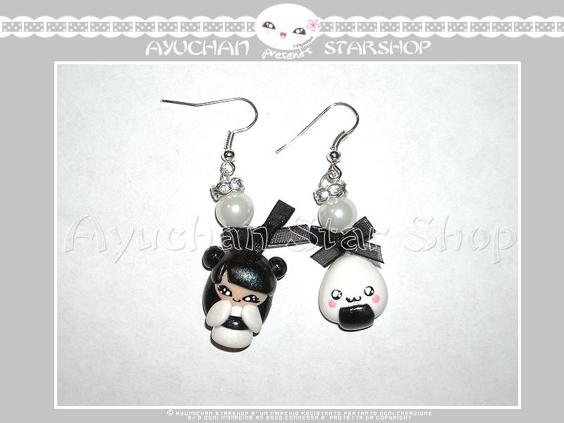 Japan Life - Earrings Geisha White by AyumiDesign