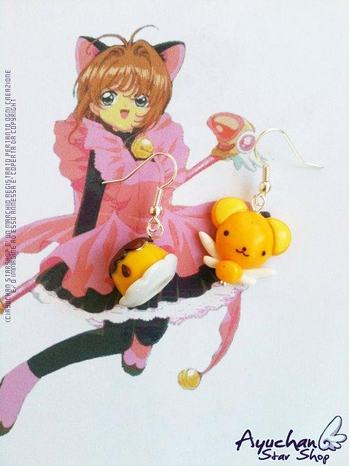 Kerochan Pudding Earrings by AyumiDesign