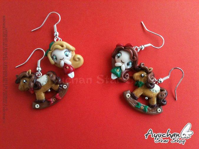 Christmas Elf Earrings by AyumiDesign