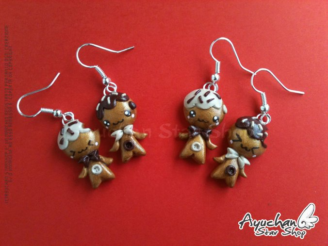 Ginger Bread 2011 Earrings by AyumiDesign
