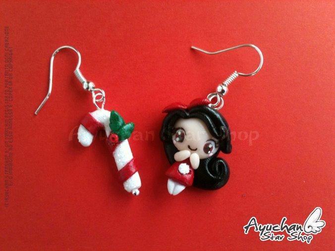 Sugar Stick Girl! - Earrings by AyumiDesign