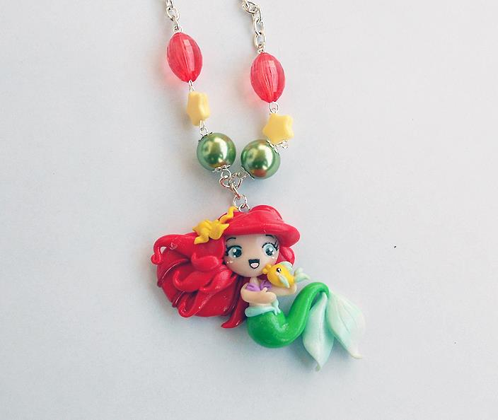 Ariel and Flounder Disney by AyumiDesign