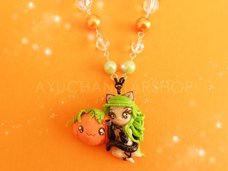 Green Pumpkin Cat by AyumiDesign
