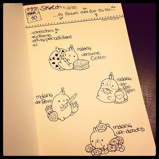Molang Sketch by AyumiDesign
