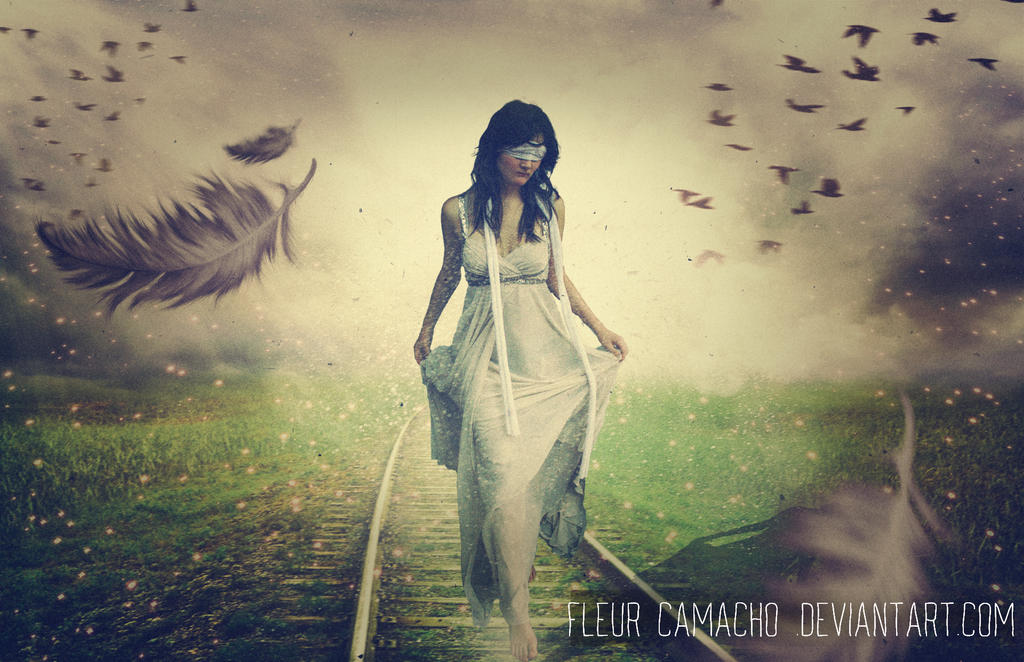 Following the path blindly by FleurCamacho