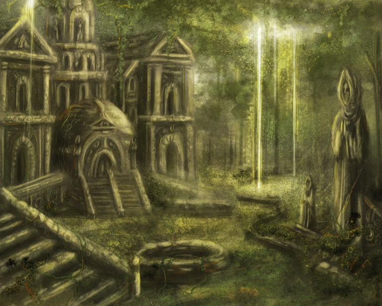 Temple Lost in Time by Beanjamish