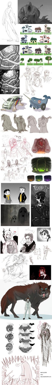 Doodle Dump Winter 2011 by Beanjamish
