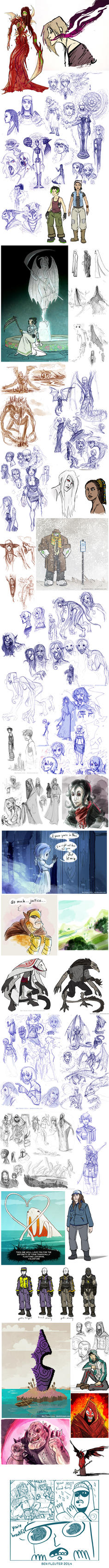 Doodle Dump May 2014 by Beanjamish