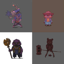 Character designs! by Qrowski