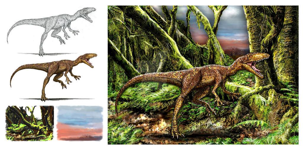Tachiraptor admirabilis step by step by dopellgersec