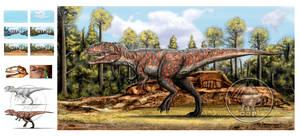 Giganotosaurus carolini step by step by dopellgersec