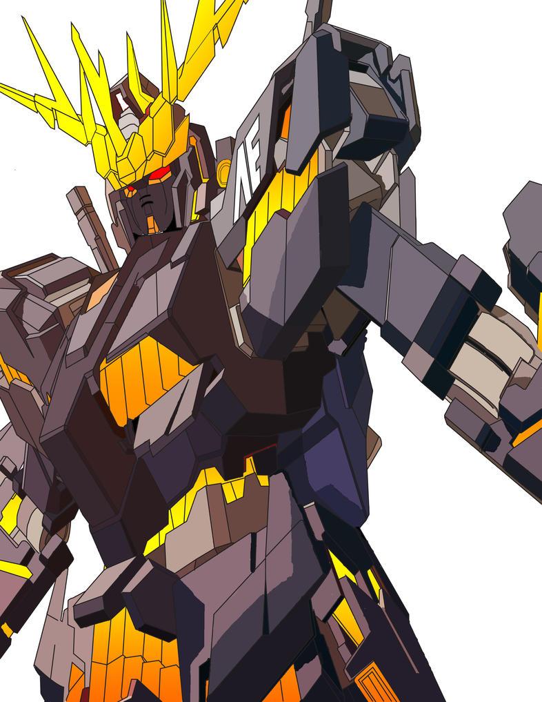 RX 0 Gundam Unicorn Banshee Color by Greiga on DeviantArt Gundam Banshee Wallpaper