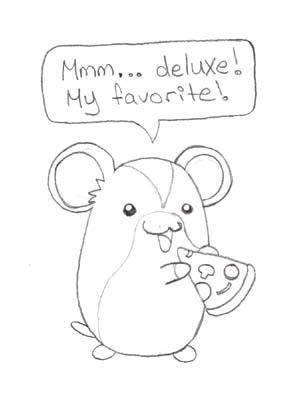 Betty Hamster Sketch — Weasyl