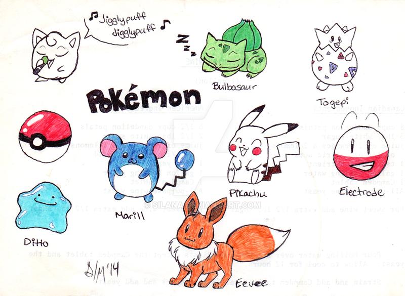 Gotta draw em all pokemon by silana