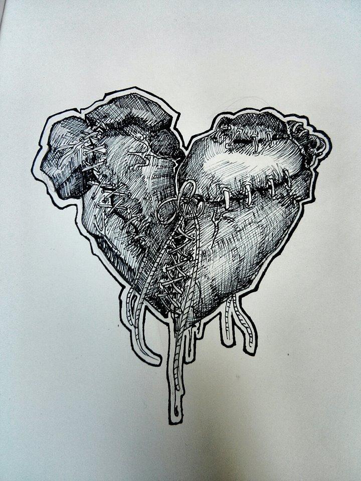 Two Human Hearts Stitched Together | www.pixshark.com ...