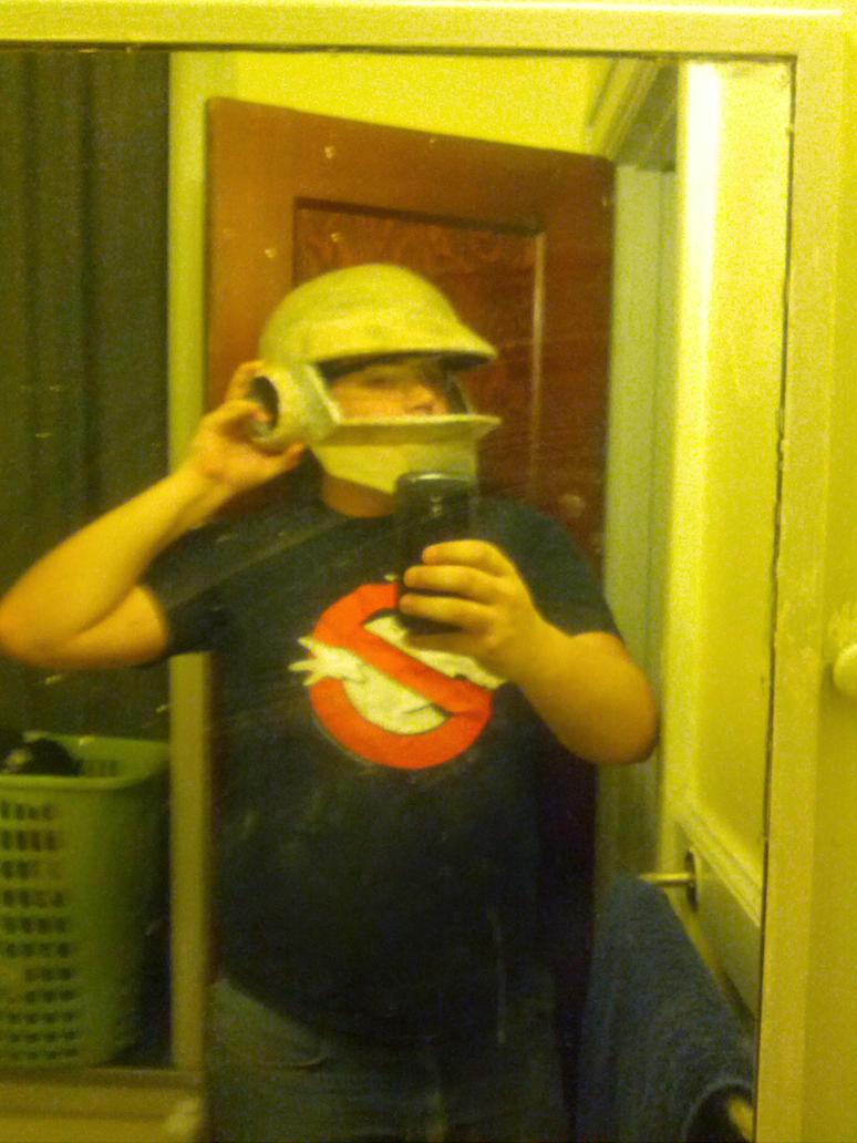 Daft punk helmet: Thomas (WIP!) by doctorwoo42