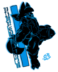 [NEON BADGE] Phazon Warrior Phaaze: Phaaze Elwolf by Stu-Jojo