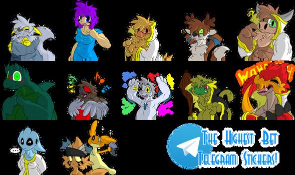 The Highest Bet's Stickers for Telegram