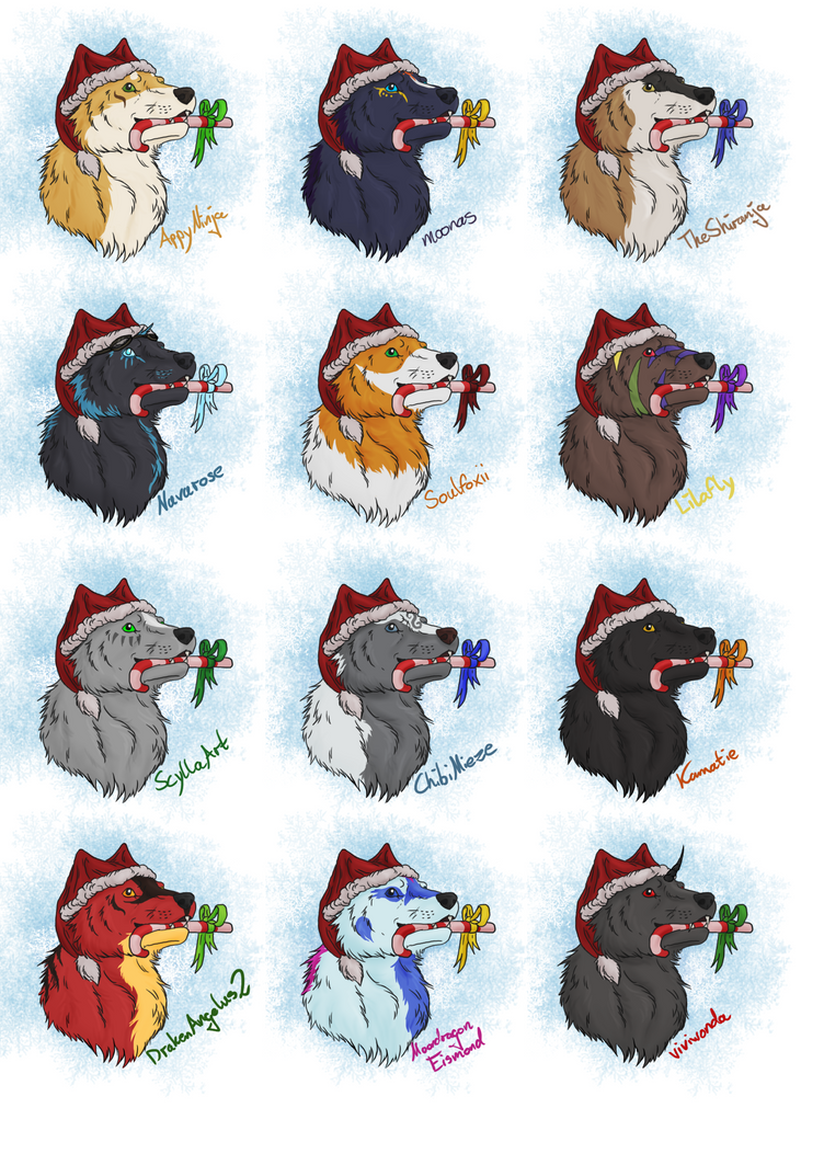 Christmas Wolves by LupaSola