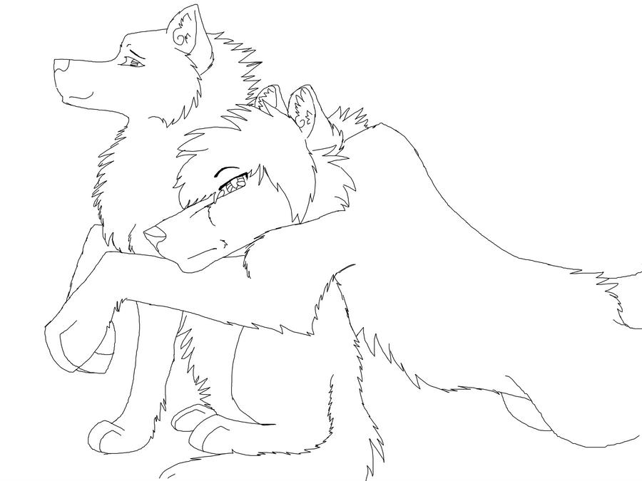 Line Art Love Images : Anime wolf couple line art hot girls wallpaper