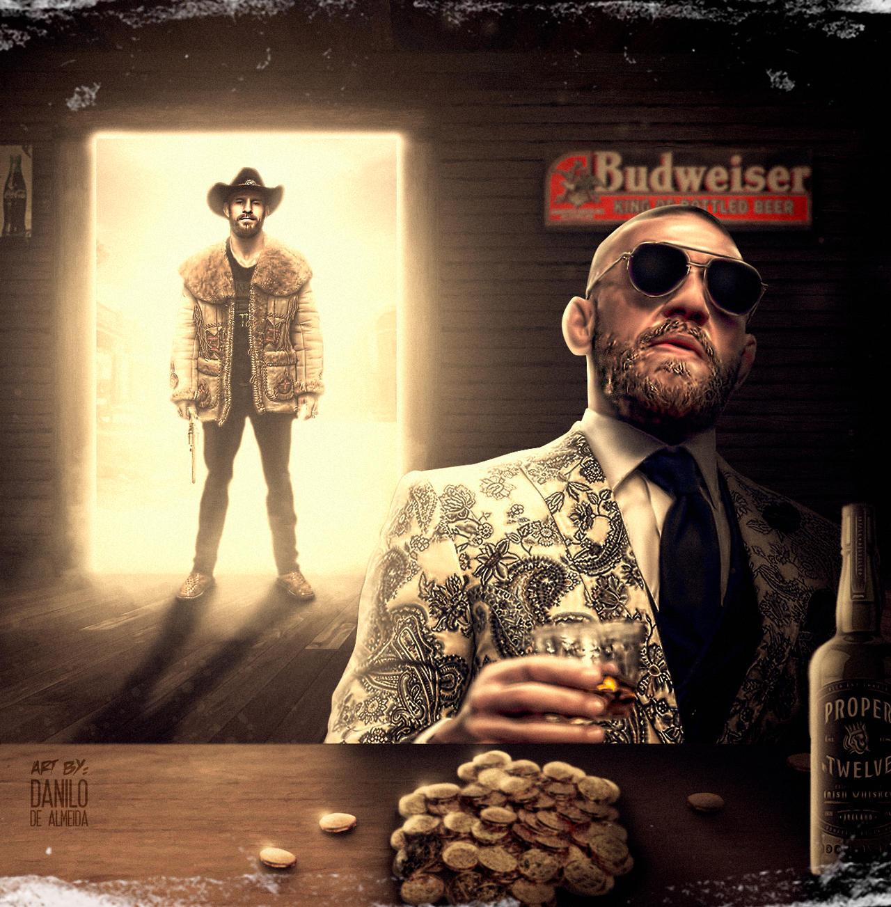 Cowboy Vs Mcgregor Old Western By 22daniloalmeida On