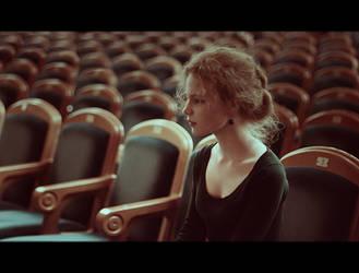 Alone in theatre by BubbleguN-oo