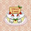 Merry X-Mas: Nyanko Cake by samentha17